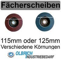 Fächerscheiben 125mm oder 115mm Stahl & Edelstahl INOX Fächerscheibe Schleifmop