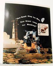 """Apollo 11 25th Anniversary Commemorative 11"""" x 13"""" Large Picture  One Small Step"""