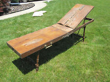 ANTIQUE 1895 AFRICAN AMERICAN CHICAGO JACKSON UNDERTAKER EMBALMING TABLE RARE