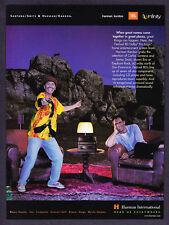 1998 Carlos Santana photo Harman Kardon Electronics Ad