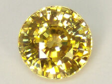 Natural Yellow Zircon 4.30 ct. Round - Bright Gem With Great Color And Cut