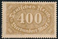 DR 1922, MiNr. 222 d, tadellos postfrisch, gepr. Infla/BPP, Mi. 90,-