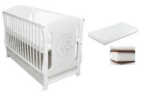 Babybett Kinderbett Juniorbett 120x60cm Motiv Schublade Matratze Kokos-Schaum