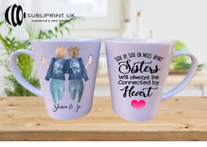 Best Friend / Sister / Cousin / Colleague Personalised  - Latte mug - Two Person