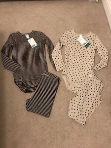 H&m Age 2-3 Boys Outfit Bundle. Tops & Leggings Ribbed.