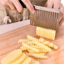 Potato Wavy Edged Knife Stainless Steel Kitchen Gadget Vegetable Fruit Cutting