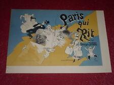 JULES CHERET / LITHOGRAPHIE ORIGINALE [Imp. CHAIX] G.DUVAL / PARIS QUI RIT 1886