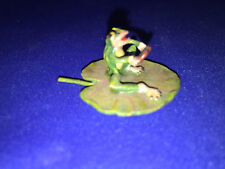 """Authentic Vienna Bronze FROG ON LEAF HOLDING HEART Has golden """"FBW"""" mark"""