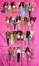 HUGE Lot of 30 Vintage  Barbie / Ken Dolls  ~ Original Clothes - NICE!