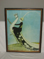 George Wolfe Plank VOGUE Vintage Lithographic Framed Print Poster 19x23