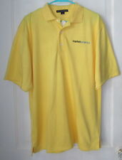 Mens Yellow Large MARKET Embroidered Logo AMERICA S/S Polo Golf Shirt Top
