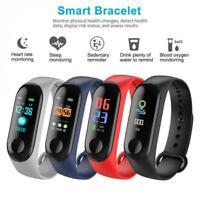 Step Tracker Health Monitor Smart Bracelet Watch Band Sport Fitness IP68 Full HD