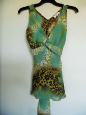 IZ Byer California Womens Blouse Juniors Sz S Sleeveless Top