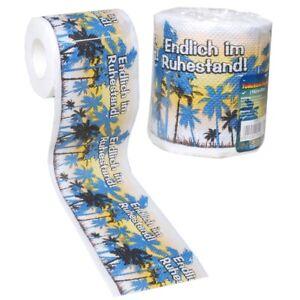 1 Rolle Toilettenpapier Ruhestand RENTNER Geschenkartikel DEKO Toilettenpapier