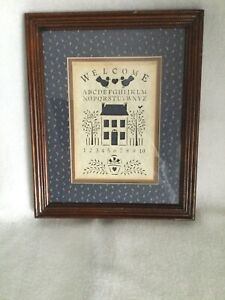 Welcome Alphabet Numbers Sampler Country Cuts Figi Graphics 9x11 Frame Laser Cut