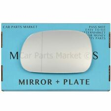 For BMW Z3 Roadster 95-03 Left passenger side Aspheric wing mirror glass +plate