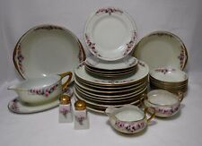 Handpainted Dinnerware Set - Roses - 29-piece Set with 7 serving pieces