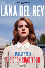 "LANA DEL REY ""THE OPEN ROAD TOUR - JANUARY 2013"" CONCERT POSTER - Lana In White"