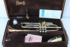 Bach Stradivarius 37 GH Gold Brass Heavy ML PRO Trumpet Professional Very Nice
