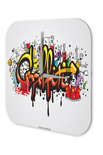 Wall Clock Feng Shui Picture  Graffiti Decorative Acrylglass