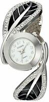 STUDIO Women's Quartz Metal Casual BANGLE  Watch, Silver-Toned STD3742T