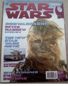 STAR WARS THE OFFICIAL MAGAZINE DECEMBER 1997 ISSUE NO11 COVER CHEWBACCA