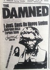 DAMNED I Just Can't Be Happy Today 1979 mini UK Press ADVERT 5x3 inches