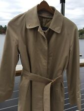 Burberry Nova Check Fully Lined Long Belted Trench Coat Size 10