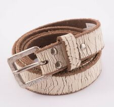 "DIESEL""B-STUPID"" CRACKED EFFECT BELT – SIZE 100/40 Length 44 1/2"" RRP 90€"