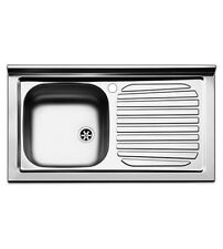 Lavello  cucina  appoggio  Apell  mod. Pisa  in  acciaio  Inox,  misura cm.90x50