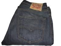Mens LEVI'S STRAUSS & CO. 501 Dark Blue (0039) Denim Jeans W34 L32 Straight Leg