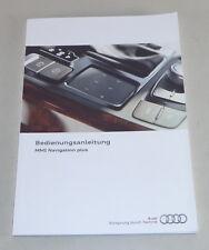 Betriebsanleitung Audi MMI Navigation plus für Audi A6 Typ 4G von 05/2016