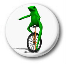 DAT BOI - 1 inch / 25mm Button Badge - Here Come Oh Whaddup Frog Unicycle PICTUR