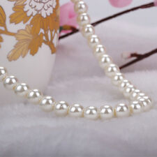 Lady Statement Chunky Cluster Hot 8mm 40cm Faux Pearl Beads Pendants Necklace