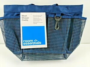 Room Essentials Mesh Beach Bag, Shower or Dorm Waterproof Tote Bag Navy Blue