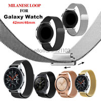 Stainless Steel Milanese Loop Watch Strap Band Fr Samsung Galaxy Watch 42mm 46mm