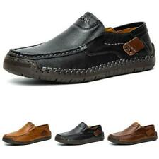 Mens Faux Leather Driving Moccasins Loafers Shoes Slip on Loafers Breathable L