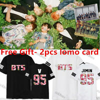 KPOP BTS In Bloom T-shirt Bangtan Boys Jung kook Tshirt Jimin Tee Cotton J-hope