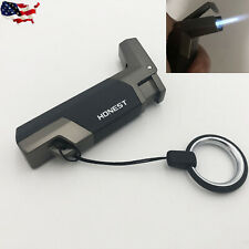 Honest Windproof Jet Torch Flame Cigarette Lighter Butane Gas Fuel Cigar Lighter