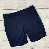Women's Talbots Navy Shorts sz 16W Plus Perfect Short Elastic at Waist