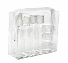 Vacaciones Viaje Transparente Botella de plástico Packs 100 ml - tarros & FUNDA