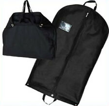 "Black 40"" Large Suit Carrier Garment Cover Travel Bag Strong Nylon Foldable Stud"