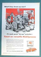 What'll They Dream Up Next Series 1955 Mobil Ad AUTOMATIC HOT SPOT PROTECTION