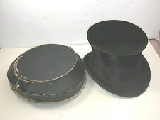 ANTIQUE FRENCH TOP HAT MARKED SILK 1920's Manufacture De Paris W Original Case