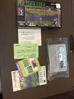 RARE COMPLETE IN BOX- PGA Tour Golf Nintendo Super Famicom