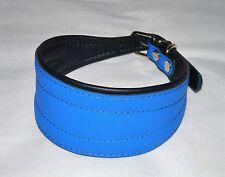 Collier chien lévrie levrette barzoï Blue neuf en cuir 100% véritable  35 cm