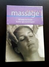 **NEW**   SIMPLE MASSAGE 50 Card Set of easy-to-learn home spa techniques