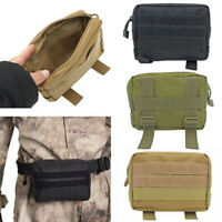 Tactical Outdoor Backpack Shoulder Strap Bag Pouch Molle Waist Pack Hunting Tool