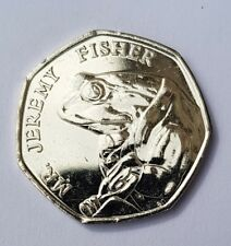 Mr Jeremy Fisher Uncirculated 50p Coin 2017. Beatrix Potter.