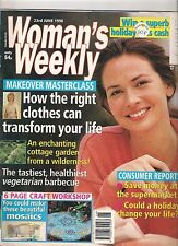 WOMANS WEEKLY  23 JUNE 1998 FASHION SHOPPING BEAUTY FOOD LIFE TRAVEL HEALTH